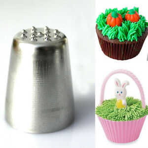 Grass Hair Icing Piping Nozzle Tip Cupcake Cake Decorating Pastry Tip Tool BIN $1.43
