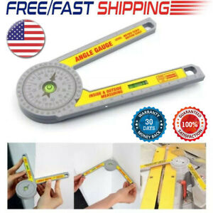 Miter Saw Protractor Dial Accurate Angle Finder with Laser Engraved Scales USA $9.99