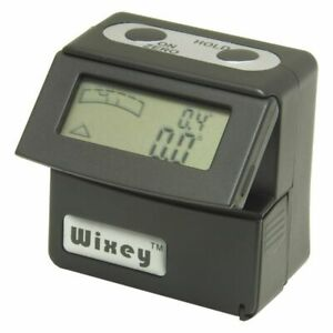 Wixey Digital Angle Inclinometer gage and Digital Spirit Level Flip Up Display $34.99