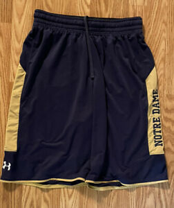 Notre Dame Football Team Issued Under Armour Shorts Large $59.99