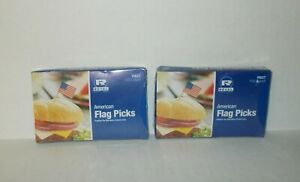 AMERICAN FLAG FOOD CUPCAKE CRAFT PARTY CHEESE SANDWICH PICKS X 200 FREE SHIP
