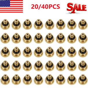 20 40pcs Brass Misting Nozzles Water Mister Sprinkle Cooling System Garden Tool