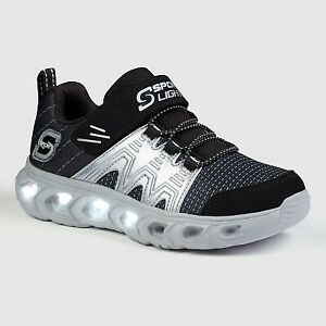 Boys#x27; S Sport by Skechers Elix Performance Light Up Athletic Shoes Black 6 $14.99