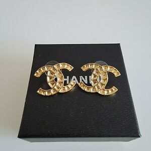 Authentic Chanel CC Earrings $399.00