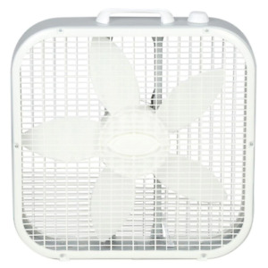 Save Smart Energy Efficient 20 in. 3 Speed White Box Fan with Built In Carry Han $24.60