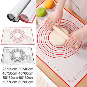 Non Stick Kitchen Rolling Dough Pad Silicone Baking Mat Pastry Kneading Pad QW