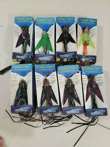 Fishskin Flyers by ProFishCo Lot of 8 Brand New Never Used Fishing Lure