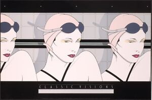 Patrick Nagel SWIMMERS Rare Lithograph Art Women Swimming Out of Print New $31.99
