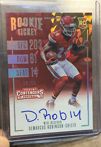 2016 Demarcus Robinson Contenders Cracked Ice Panini Rookie Auto #'d 24 CHIEFS $25.00