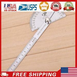 Stainless Steel 180 degree Protractor Angle Finder Rotary Measuring Ruler USA $9.19
