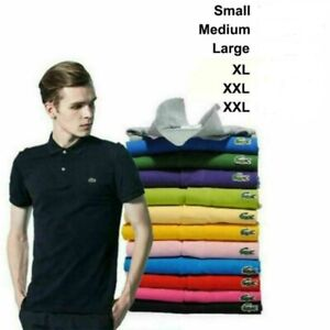 2021 Men#x27;s Vintage Lacost L1212 T Shirt Short Sleeve Polo Slim Fit T Shirt S 3XL $25.99