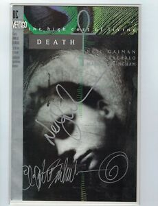 Death: the High Cost of Living #1 VF NM signed Neil Gaiman amp; Chris Bachalo w COA $99.99