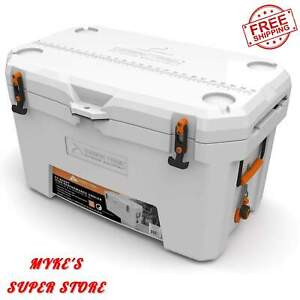 52 Qt. Thermo cooler Hard Sided White High Performance Outdoor Sporting Goods