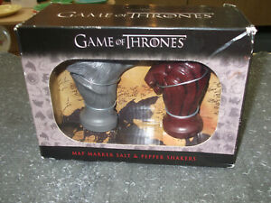 Game of Thrones Stark and Lannister Map Marker Salt and Pepper Shakers GOT