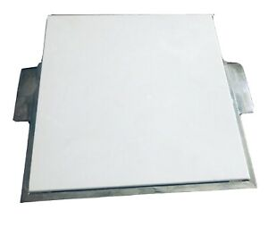 Heavy Marble Stone Pastry Board Cutting Board with Metal Base