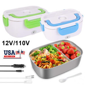 12V 110V Portable Electric Lunch Box Heater Food Warmer Container Bento Car Home