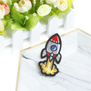 Rocket Cloth Badges DIY Embroidered Iron Sewing On Patches for Clothes Ao $5.62