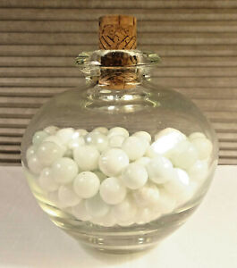 Antique Glass Vase Bottle with White Marbles $29.99