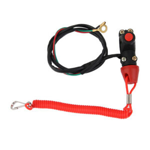 Universal Engine Stop Kill Tether Switch Lanyard for ATV Racing Emergency 70cm $7.01