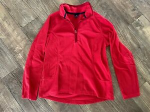 Land#x27;s End Red Pullover Fleece Size M