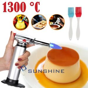 Cooking Torch Creme Brulee Culinary Food Blow Kitchen Chef Butane Flame Lighter
