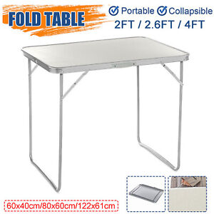 Portable Indoor Outdoor Aluminum Folding Table 4 2.6 2FT Picnic Party Camping