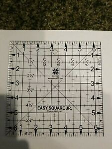 Easy Square Jr. Simplicity Quilting Ruler by Sharon Hultgren 6 1 2quot; x 6 1 2quot; $9.99