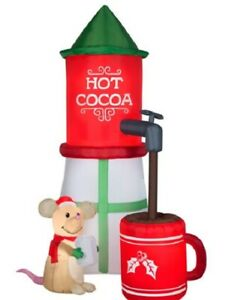 Holiday Time 8ft hot Cocoa Silo Airblown Inflatable