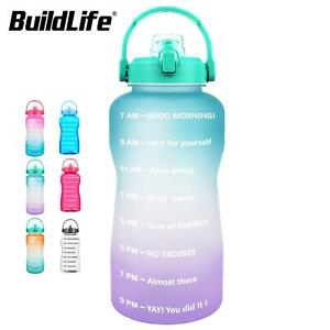 3.8 2 L Large Capacity BPA Free Outdoor Motivational Time Marker Water Bottle