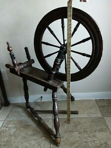 Spinning Wheel Antique for Spinning Flax and other Equipment