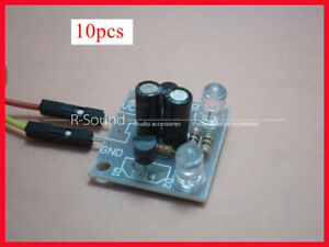 10X Transistor multivibrator circuit 5MM LED flashes Kit Electronic Component $18.00