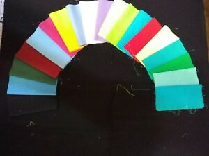 CHERYLS RAINBOW SOLIDS QUILTING SQUARE BLOCK 4 INCHES X 4 INCHES PRE CUT COTTON $9.99