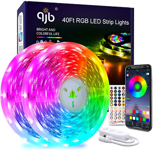 40 Ft Led Strip Lights Bluetooth RGB 5050 Led Music Sync Color Changing