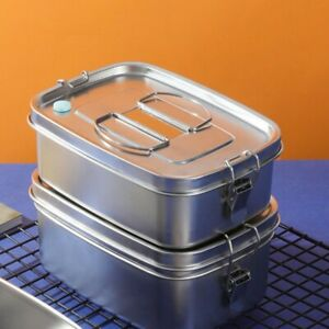 Stainless Steel Food Bento Storage Container Insulated Thermal Student Lunch Box
