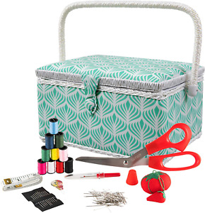 Singer 07229 Sewing Basket With Sewing Kit Needles Thread Pins Scissors $28.99