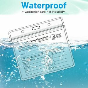 2 50PCS Covid2021 4quot; x 3quot; CDC Vaccination Record Card Holder Protector Sleeve US $8.89