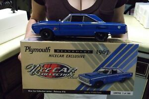 1967 PLYMOUTH BELVEDERE NICE CAR EXCLUSIVE 1:18 ACME 1806704NC HURST BLUE RACE