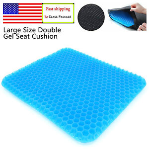 Plus Size Square Gel Cushion Seat Chair Soft Pads Double Thick Non Slip Cover