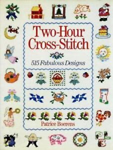 Two Hour Cross Stitch 515 Designs Patterns Sewing Designs Alphabets Treasures $12.00