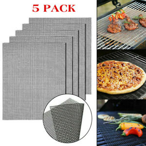 Home GRILL MAT BBQ Grill Mesh Mat Non Stick Cooking Sheet Liner Fish Camping