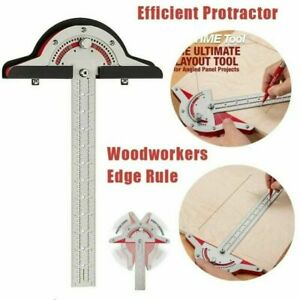 Woodworkers Edge Rule Protractor Angle Two Arm Carpentry Ruler Tools Measuring $23.27