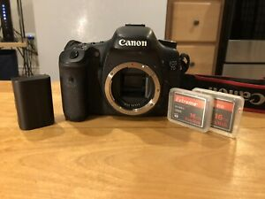 Canon 7D body amp; CF Cards