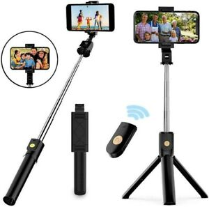 TRIPOD SELFIE STICK EXTENDABLE WIRELESS REMOTE STAND FOR IPHONE ANDROID $8.95