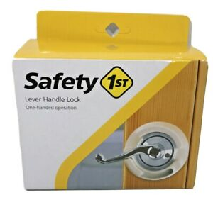 Safety 1st Lever Handle Lock Child Safety No Drilling Off White Cream Color $9.89