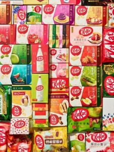 Japanese Kit Kats Assorted 10 Limited Edition Flavors 10 FULL BAGS OF KITKATS $89.99