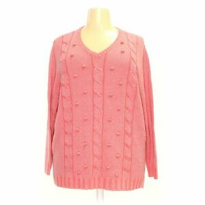 The Quacker Factory Women#x27;s Sweater size 3X pink cotton acrylic polyester