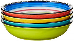 Certified International Tequila Sunrise Soup Pasta Bowl 9.25 Inch Assorted Set $51.33