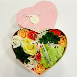 Soap Roses In Heart Gift Box Perfect Gift For Her Birthday Anniversary Gift