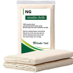 NUOBUNG Cheese cloth Grade 90 100% Unbleached Cotton Ultra Fine Food gauze