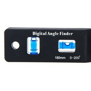 0 200° Angle Finder 180mm Angle Finder Digital Protractor High Quality C $23.33